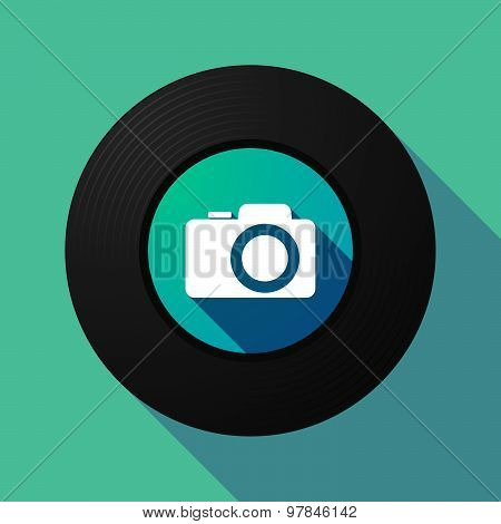Vinyl Record With A Photo Camera