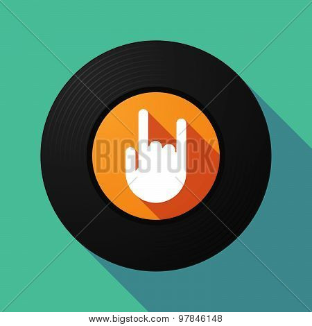 Vinyl Record With A Rocking Hand