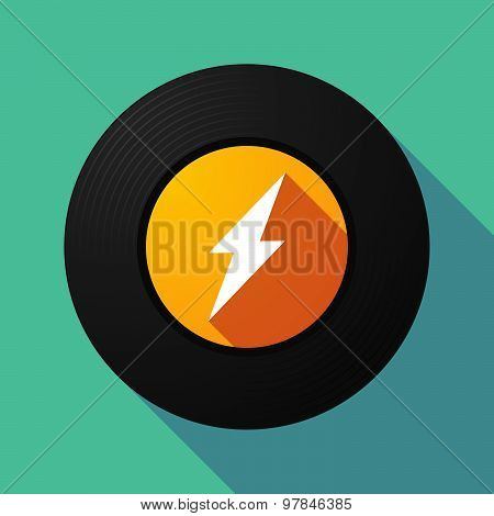 Vinyl Record With A Lightning