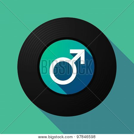 Vinyl Record With A Male Sign