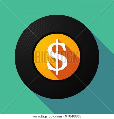 Vinyl Record With A Dollar Sign