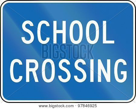 School Crossing In Canada