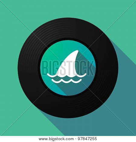 Vinyl Record With A Shark Fin