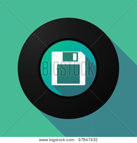 Vinyl Record With A Floppy Disk