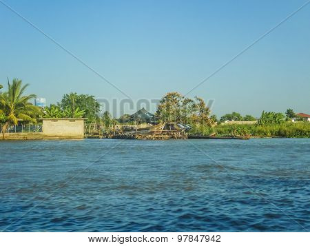 Colonial Style Architecture Of Cartagena From Caribbean Sea