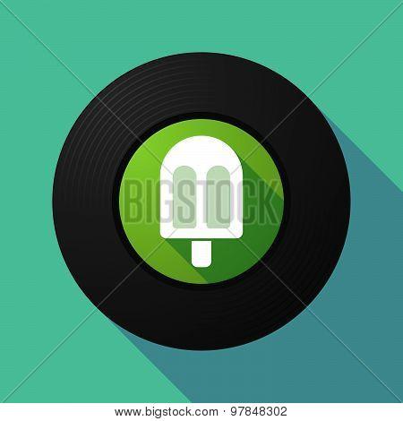 Vinyl Record With An Ice Cream