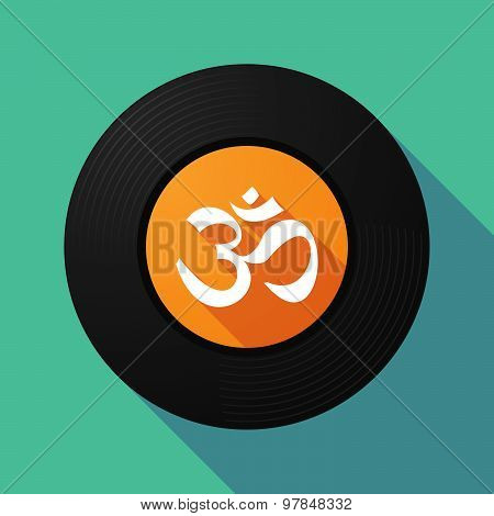 Vinyl Record With An Om Sign