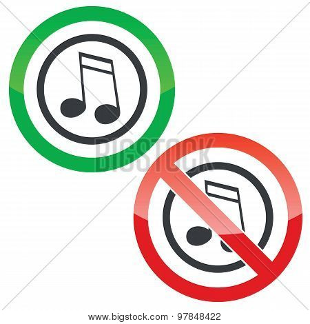 Music permission signs 2