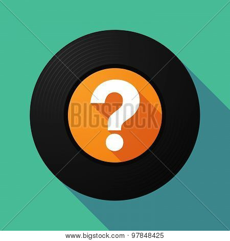 Vinyl Record With A Question Sign