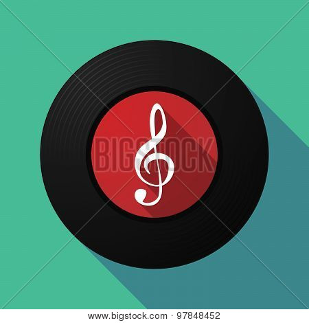 Vinyl Record With A G Clef