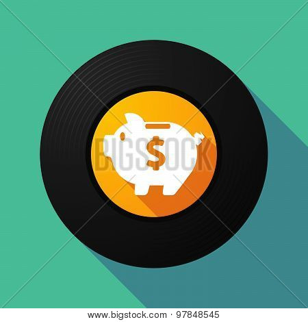 Vinyl Record With A Piggy Bank
