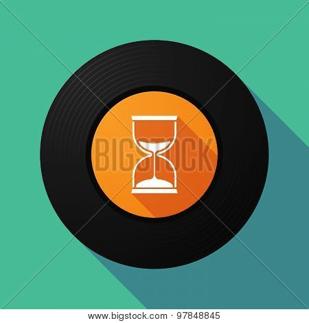Vinyl Record With A Sand Clock