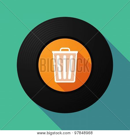 Vinyl Record With A Trash Can