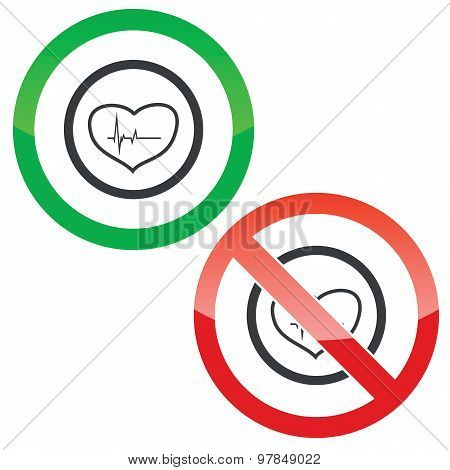 Cardiology permission signs