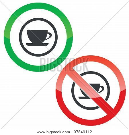 Cup permission signs