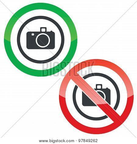 Camera permission signs