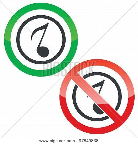 Music permission signs 3