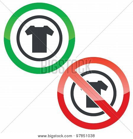 T-shirt permission signs