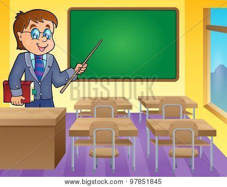 Man teacher theme image 3 - eps10 vector illustration.