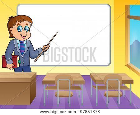 Man teacher theme image 4 - eps10 vector illustration.
