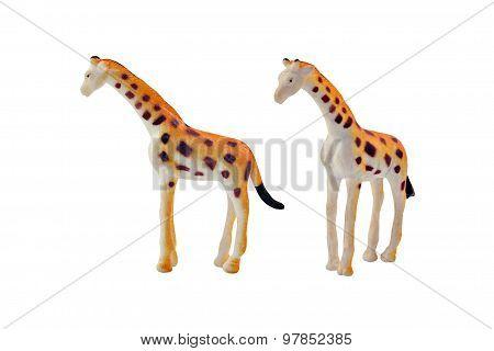 Isolated giraffe toy