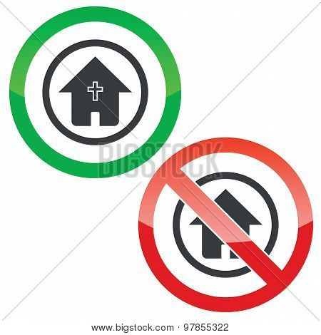 Christian house permission signs