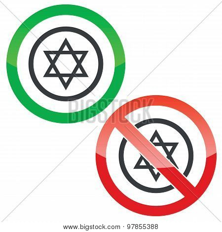 Star of David permission signs