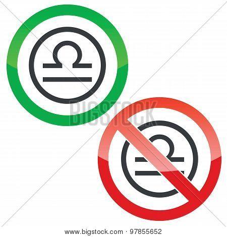Libra permission signs
