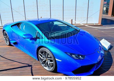 Lamborghini Huracan In Porto Cervo Harbor Showcase