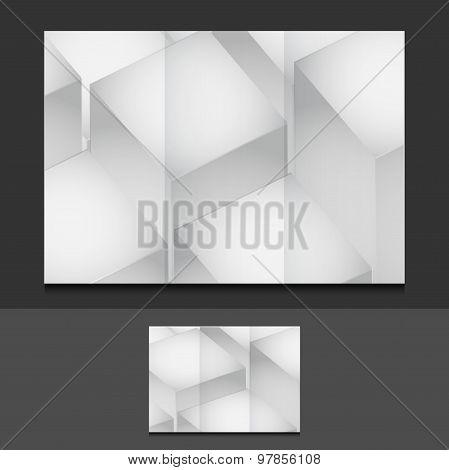 Cubes Trifold Template Illustration Design