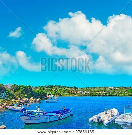 Boats Moored In Porto Cervo