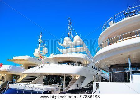 Luxury Yachts In Porto Cervo Harbor