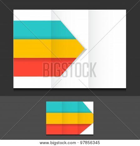 Colorful Trifold Template Illustration Design