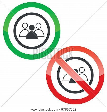 Group leader permission signs