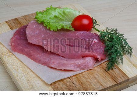 Raw Pork Schnitzel