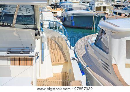 Yachts In Porto Cervo Dock