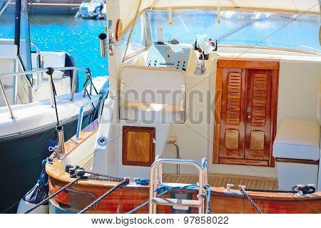 Detail Of A Boat In Porto Cervo Harbor