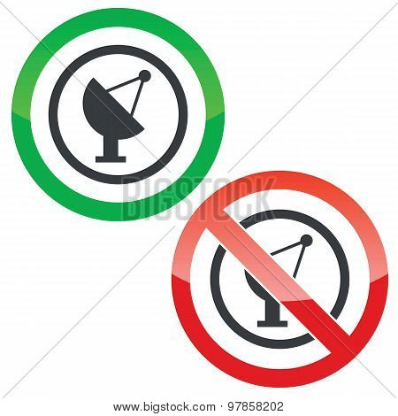 Satellite dish permission signs