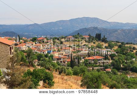 Lefkara Village With Mountains, Cyprus