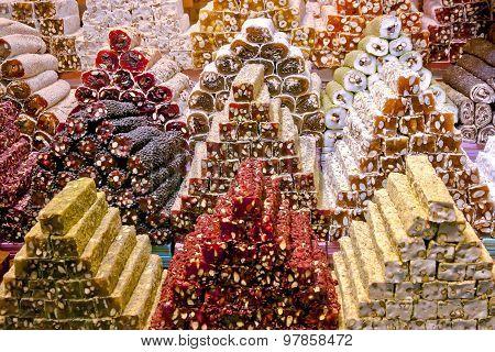 Turkish delight on Spice Bazaar Istanbul