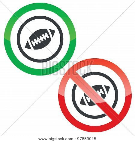 Rugby permission signs