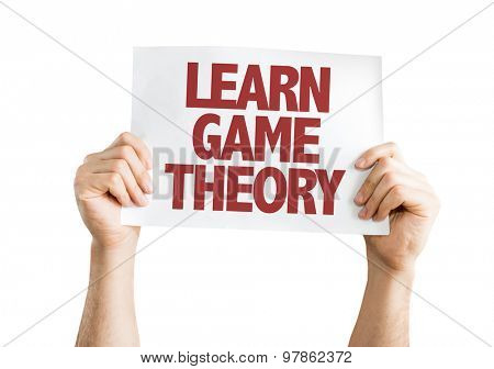 Learn Game Theory card isolated on white
