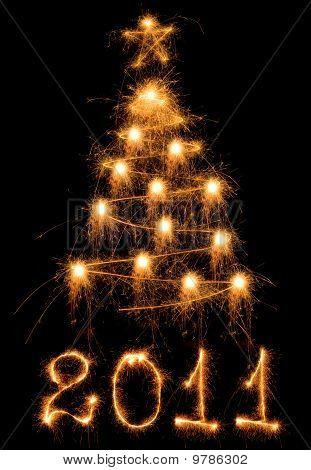 Sparkler Christmas Tree