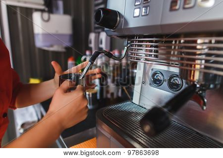 Bartender Making Coffee