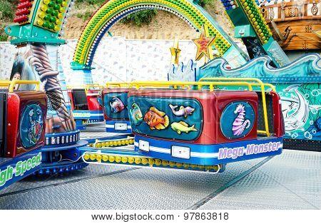Empty cabin carousel