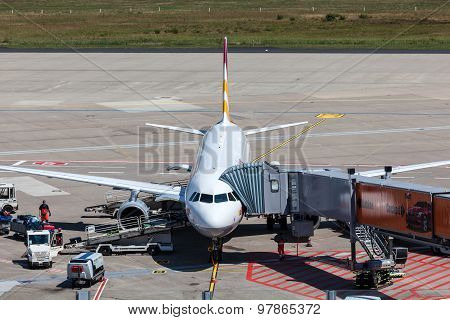 Germanwings Aircraft At The Gate
