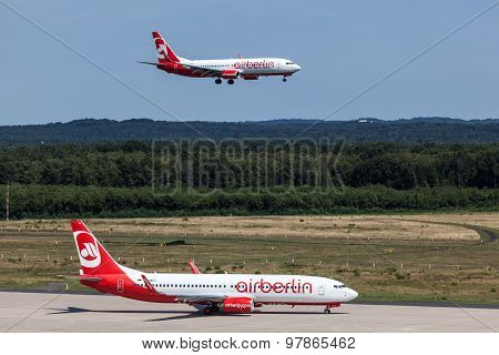 Airberlin Aircrafts At The Cologne Bonn Airport
