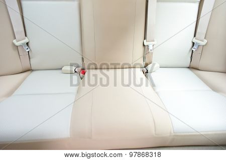 back seat of car