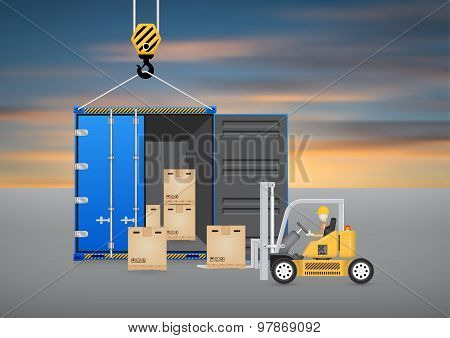 Forklift Container