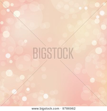 Beautiful Vector Background With Bokeh